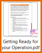 Getting ready for your operation
